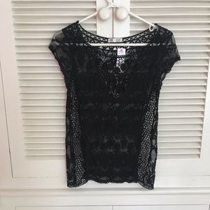 Garage mesh and lace Top Size XS